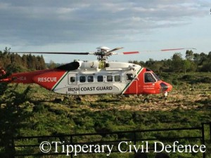 Rescue 115 awaits casualty