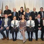 Kilkenny Person of the Year Awards recipients: Ba ck row, from left, BIlly Gardiner, Chairman; Sr. Margaret Mary Cooney and Fr. Patrick Carey, (Community Support);Ane Ryan, KIlkenny Camogie (Sport); Frances Bradley, (Community Involvment); Eddie Blackmore, Piltown Community Enterprise (Rural Innovation); Pat Daly, (Youth); Brian Keyes, Kilkenny People. Front row, from left, Thetesa Delahunty, (Social Inclusion); Veronca McCarron, Musical Diredctor, Presentation Secondary School Choir flanked by twins Carrie and Megan Ramble (Art); Cllr Matt Doran, Chairman, Kilkenny County Council and Eileen Lanigan, Kilkenny Civil Defence, (Courage). Picture: Michael Brophy.